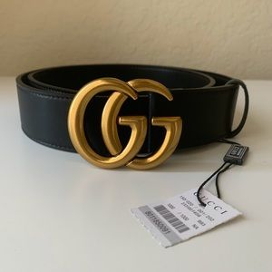 -New Gucci Belt Aùthéntic Double G Marmot GG